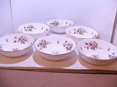 6 x Minton Marlow Cereal Fruit Bowls Dishes 1st quality