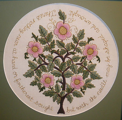 The Rose Tree of Life-a crewel embroidery kit from the Needlewoman Studio