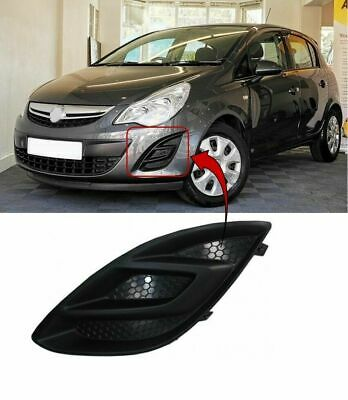Vauxhall Corsa D 2011-2014 Front Bumper Fog Grille No Lamp Hole Left Side New