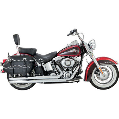 Vance & Hines Long Staggered Big Shots Straight-Cut Harley Softail 12-14