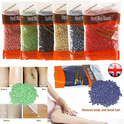 100g Depilatory Wax Beans Pellet Waxing Body Bikini Hair Removal Two-side Paper