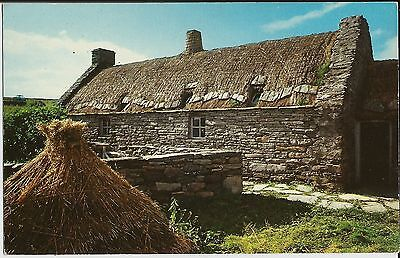 Croft at Dunrossness, Shetland, on unused small postcard with colour photo view