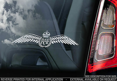 Royal Air Force - Car Window Sticker - RAF Wings Crest Sign Logo Badge - V02