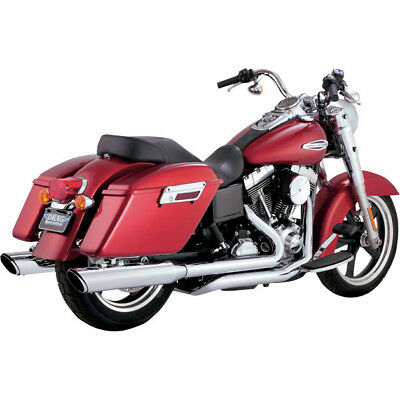 Vance & Hines Switchback Duals con Twin Slash Slip-On Silenciadores Dyna 12-16