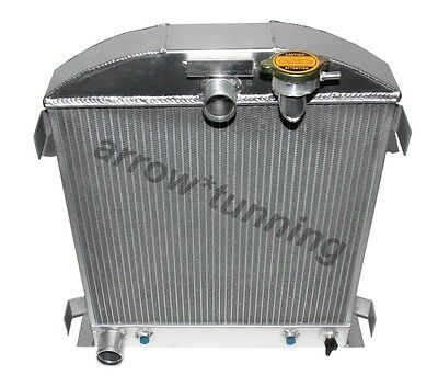 3Row /core For 1932 Ford Engine Hi-Boy Grill Shell Aluminum Radiator