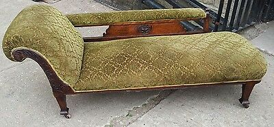 Lovely green Edwardian chaise longue