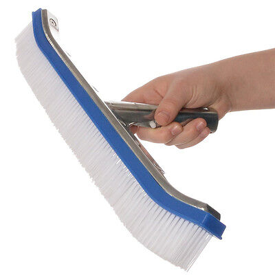 "18"" Pool Wall Brush Professional Grade Easy Swimming Pool Cleaning Spa Wall New"