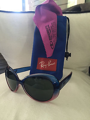 Ray-Ban Junior Sunglasses 9048S Gradient Blue/Pink Frame Girls 8-12yrs