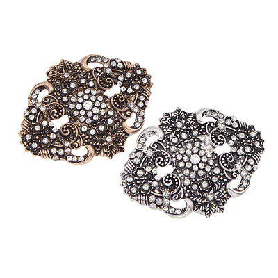 1 Pc Vintage Dark Rhinestone Shoe Clip Clips High-heel Decoration Removable