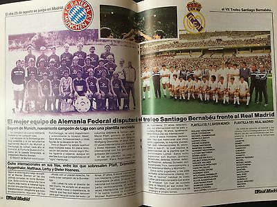 1985 Bernabeu Trophy. Real Madrid - Bayern Munich. Preview. official magazine