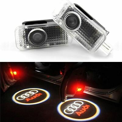 2x CREE LED Projector Car Door  Light Shadow Puddle Courtesy Laser Logo for Audi