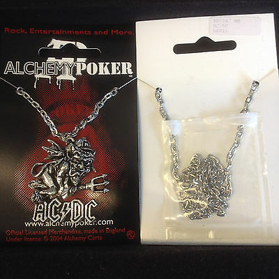 Alchemy OFFICIAL AC DC AC/DC Logo Tag Pendant Necklace PP226 Pewter New