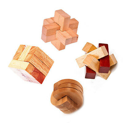 3D Magic Wooden Interlocking Puzzles Game Toy Educational Game Puzzles DIY Toy