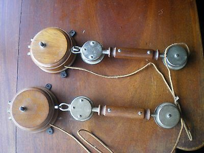 telephone vintage Pair of stylish wooden French