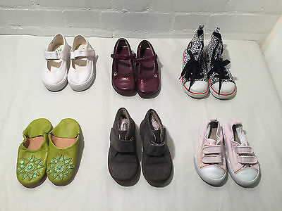 Lot Of 6 Pairs Of Cute Designer Girls Shoes ! Size 25 / 26 And Size 10 / 8 - Vr