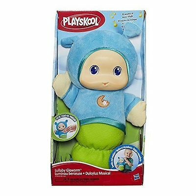 Hasbro Playskool Gloworm Blue Lullaby Glow Worm Night Light Up Musical Plush