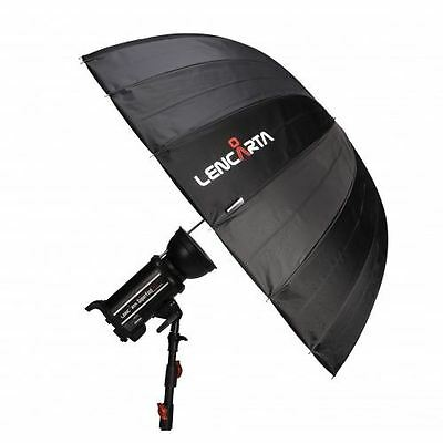 "Lencarta 130cm 51"" Silver Reflective 16-Rib Deep Parabolic Umbrella For Flash"