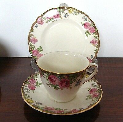 Royal Doulton ENGLISH ROSE Tea Cup, Saucer and Plate Trio D.6071