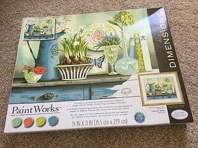 DIMENSIONS PAINT WORKS PAINT BY NUMBERS Vintage Collectibles 35.5 X 27.9 cm
