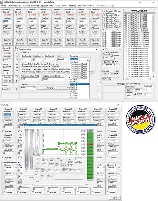 Multichannel 32-channel data logger, temperature logger, PT100, PT1000