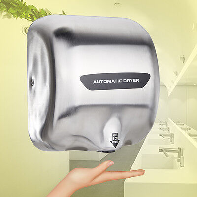 Automatic Hot Hand Dryer 1800 Watts High Speed Heavy Duty Stainless Steel *