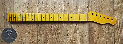 Tele Telecaster Maple Electric Guitar Neck Gloss 21 Fret Skunk Stripe