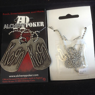 Alchemy Korn Dog Tags DT30 Pewter New