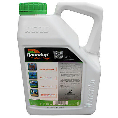1 X 5L ROUNDUP PROVANTAGE 480 STRONG PROFESSIONAL GLYPHOSATE WEEDKILLER Cheapest