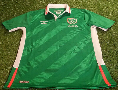 republic of ireland football large mans rare player issue 1916-2016 home jersey