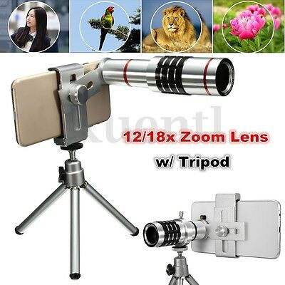 12x/18x Optical Zoom Telescope Camera Lens Kit Tripod For Cell Phone Smartphone