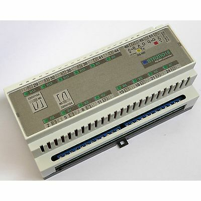STR2DO14DIN RS-485 DIN Rail box controller 14 Outputs 12V Relays Automation