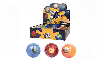 Solar System Planet Putty - Space Slime Squish Goo Educational Squeeze - Nv251