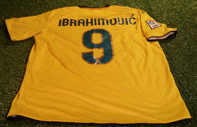 barcelona fcb spain football large mans ibrahimovic no9 nike away jersey sweden