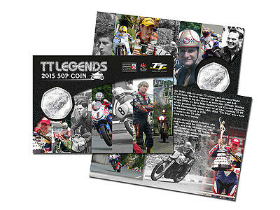 2015 Isle of Man Official TT Legends Collectable 50p Coin Gift Pack (AG99)