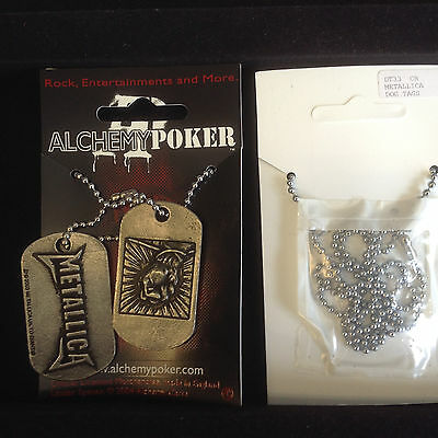 Alchemy  Metallica Dog Tags DT33 Pewter New