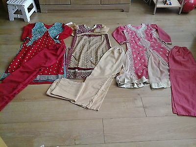 Bundle of girls salwar kameez/dress  x 3  size 36 (10/11 years)