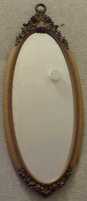 Antique Wooden Framed Mirror - BEAUTIFULLY CARVED FRAME - NICE OLD MIRROR - VGC