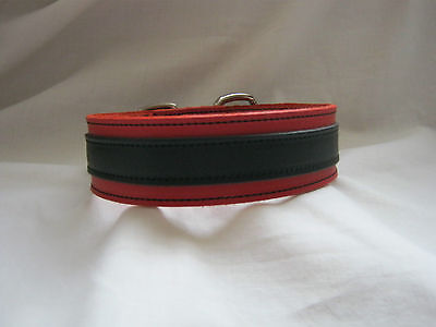 New Black & Red Real Leather Fetish/Bondage/Gothic/Punk Unisex Neck Collar