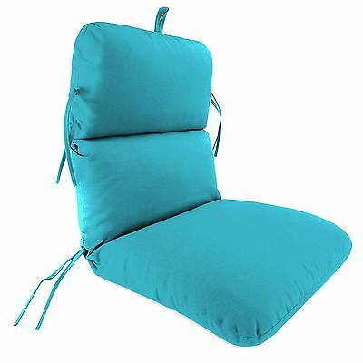 All Weather Outdoor Patio Chair Cushion Dining Seat Back Turquoise Blue