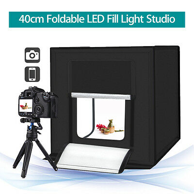PULUZ 40cm Photography SoftBox Kit Light Tent Studio Waterproof w/ 3 Backgrounds
