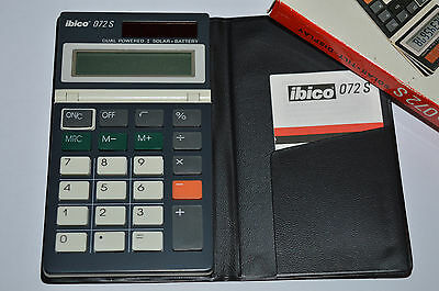Prop. Retro Reliable Vintage Ibico 102s Solar Battery Power Calculator Finance