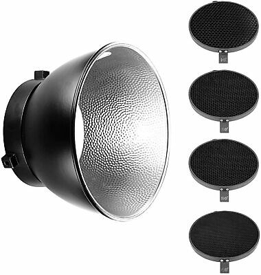 """Photography Honeycomb Diffuser Grids Set Of Four 7"""" Standard Reflector"""