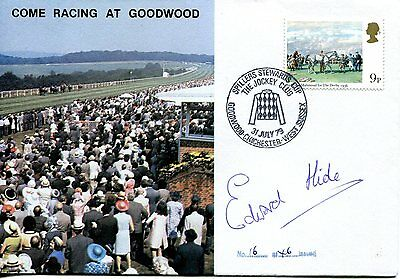 1979 Horseracing Cover (Come racing at Goodwood) SIGNED Eddie Hide