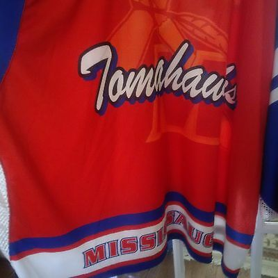 WARRIOR Mississauga Tomahawks Lacrosse Player Jersey #7 - Orange - Youth L - NEW