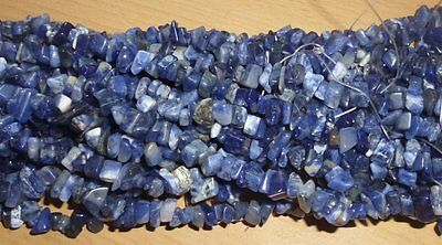 Sodalite Drilled Chips - String approx 36 inches long weighs 50 grams