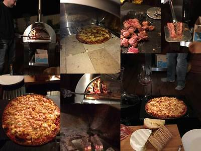 Order taken-Wood fired Pizza Oven Heavy Duty OutDoor BBQ for 4 pizza, smoke Pork