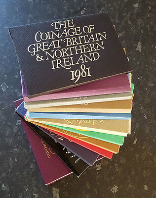 UK Proof set Covers for 1970 to 1982