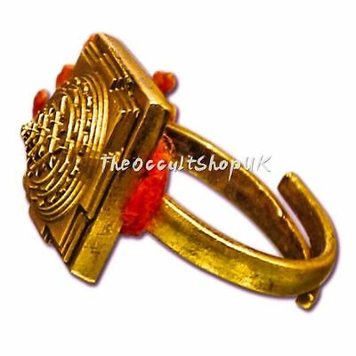 Rare Shri Yantra Ring To Attract Money - Talisman Laxmi Charm Wicca Pagan Gothic