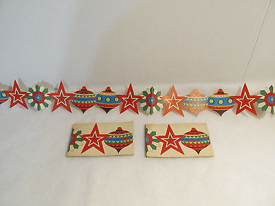 3 Vintage Christmas Cut Out Paper Garlands Or Borders -  Ornaments & Stars