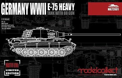 Top Modelle Modelcollect German Wwii E-75 Heavy With 8,8 Cm Gun In 1/72